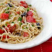 Sun Dried Tomato and Black Olive Pasta