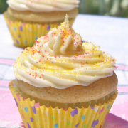 Two Vanilla Cupcakes - Plain and Simple