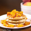 Warm Peach Syrup over Fluffy Buttermilk Pancakes
