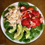 Strawberry Avocado and Chicken Salad