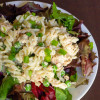 Creamy Pasta Salad With Salmon, Peas, and Herbs